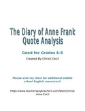 Diary of Anne Frank - Quotation Analysis
