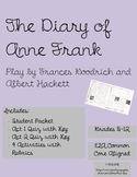 Diary of Anne Frank The Play BUNDLE (includes Packet, Quiz, Activities, Test)