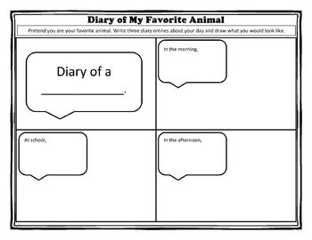 Diary of a Worm - Writing Activity
