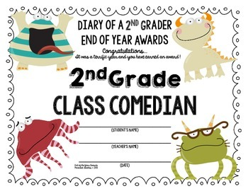 End of the Year AWARDS-2nd Grade