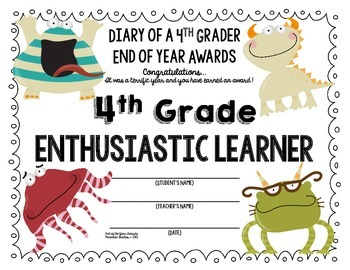 End of the Year AWARDS-4th Grade
