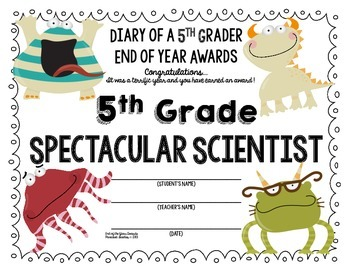 End of the Year AWARDS-5th Grade