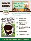 Diary of a 6th Grade Ninja {Interactive Notebook & Novel Study}