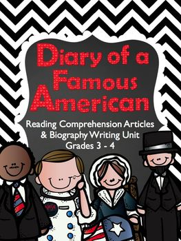 Biography Unit: Diary of a Famous American (over 100 pages!)