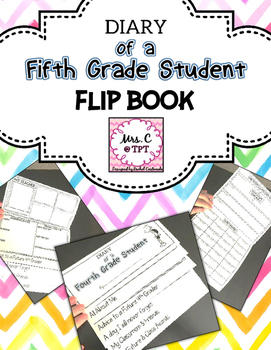 Diary of a Fifth Grade Student Flip Book