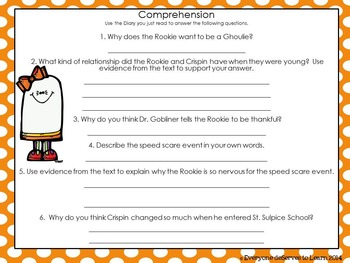 Ghost Comprehension Interactive Book