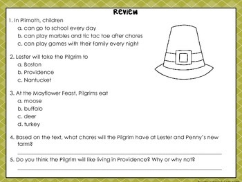 Pilgrim Comprehension Interactive Book