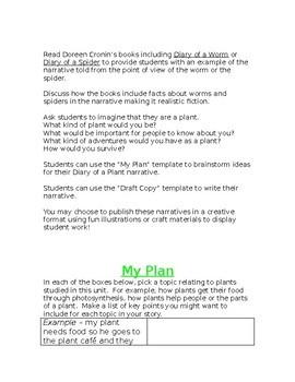 Diary of a Plant Culminating Activity - Grade Three Science Ontario