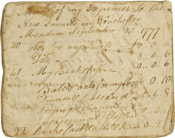Diary of a Revolutionary War Soldier