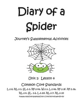 Diary of a Spider--2nd grade Journey's Supplement