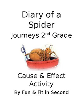 Diary of a Spider Cause and Effect Activity