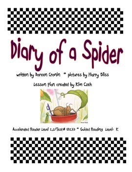 Diary of a Spider Guided Reading Packet