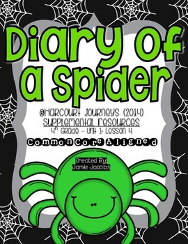 Diary of a Spider (Journeys 2nd Grade - Supplemental Materials)