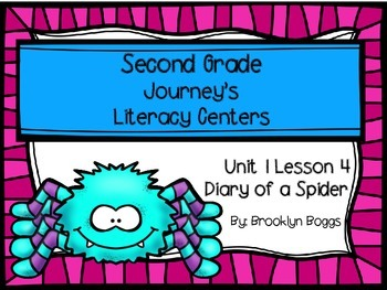 Diary of a Spider Journey's Literacy Centers - Second Grade Lesson 4