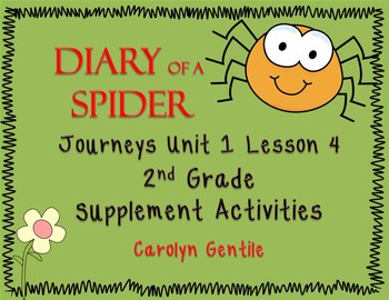Diary of a Spider Journeys Unit 1 Lesson 4 Second Grade Supplement Activities