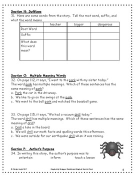 Diary of a Spider ~ Language Arts Workbook ~ 2nd Grade ~ HMH Journeys