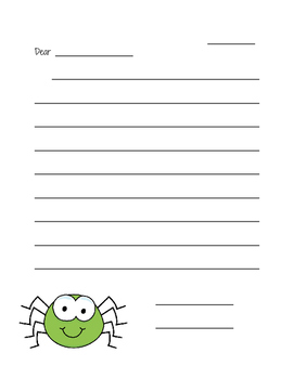 Diary of a Spider Letter writing- 2nd grade Unit 1, Lesson 4