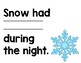 The Snowy Day Mentor Sentence