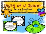 Diary of a Spider Review Question Task cards for HM Journeys