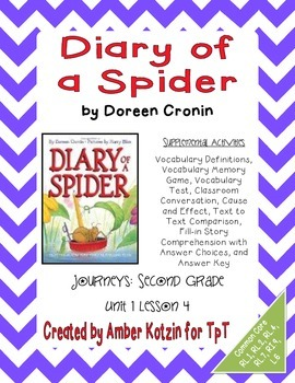 Diary of a Spider Supplemental Activities 2nd Grade Journe