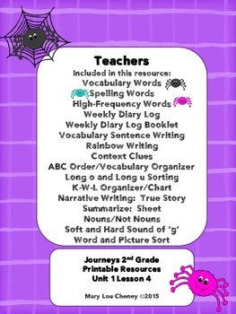Diary of a Spider Supplemental Resources/Activities