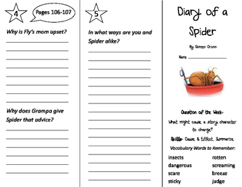 Diary of a Spider Trifold - Journeys 2nd Grade Unit 1 Week