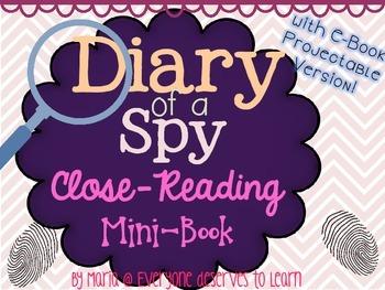 Spy Mini Book Close Reading Interactive Book