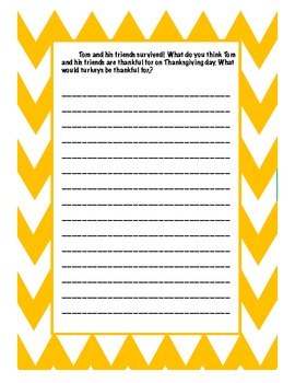 Diary of a Turkey!  Creative Thanksgiving Writing Activities