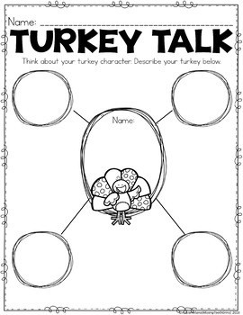 Diary of a Turkey Thanksgiving Writing Craft