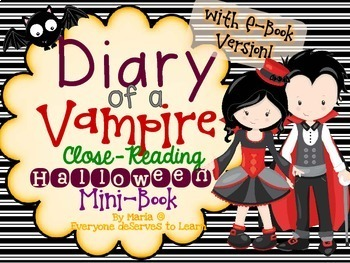 Vampire Comprehension Interactive Book