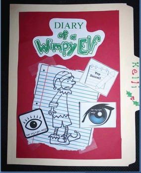 Diary of a Wimpy Elf Writing Packet