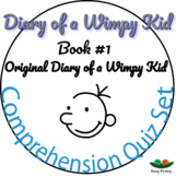 Diary of a Wimpy Kid - Book 1 - Comprehension Quiz