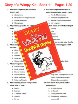 Diary of a Wimpy Kid - Book 11 - Double Down - Multiple Choice Quiz