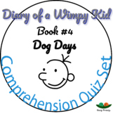 Diary of a Wimpy Kid - Book 4 - Dog Days - Comprehension Quiz