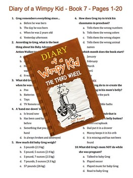 Diary of a Wimpy Kid - Book 7 - The Third Wheel - Multiple Choice Quiz