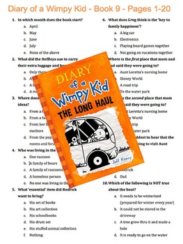 Diary of a Wimpy Kid - Book 9 - The Long Haul - Multiple Choice Quiz
