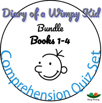 Diary of a Wimpy Kid - Books 1, 2, 3 & 4 - 44 Multiple Choice Quizzes!