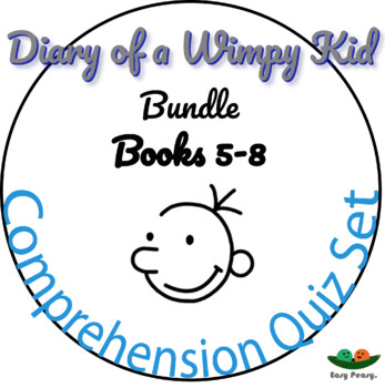 Diary of a Wimpy Kid - Books 5, 6, 7 & 8 - 44 Multiple Choice Quizzes!
