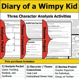 Diary of a Wimpy Kid - Character Analysis Packet, Theme Connections, & Project