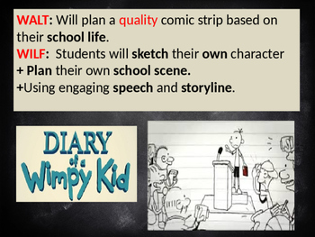 Diary of a Wimpy Kid Comic Strip Lesson