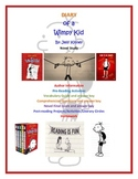 Diary of a Wimpy Kid Novel Unit Study
