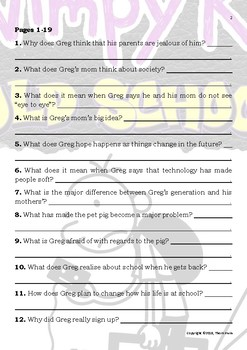 Diary of a Wimpy Kid - Old School - Novel Study