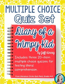 Diary of a Wimpy Kid Quiz Set * Novel Quizzes