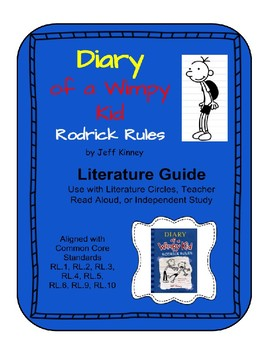 Diary Of A Wimpy Kid Rodrick Rules Literature Guide By Catdogteaches