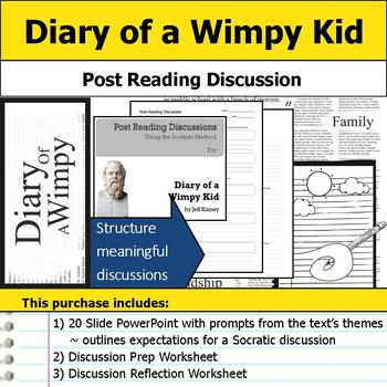 Diary of a Wimpy Kid - Socratic Method - Post Reading Discussions