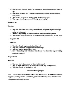 Diary of a Wimpy Kid Study Guide