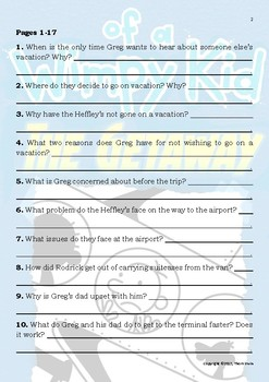Diary of a Wimpy Kid - The Getaway - Novel Study