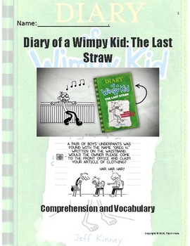 Diary of a Wimpy Kid - The Last Straw - Novel Study
