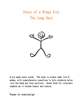 Diary of a Wimpy Kid: The Long Haul Novel Study