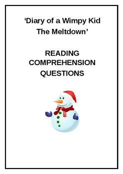 Diary Of A Wimpy Kid The Meltdown Questions And Answers Word File